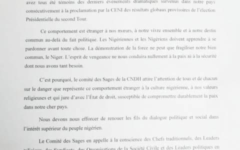Situation politique : le Comité des sages de la CNDH appelle au dialogue pour la paix des cœurs et des esprits