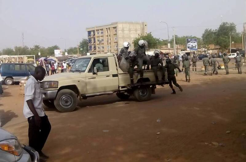 Police Niger Manifestation interdite societe civile 10-05-2017