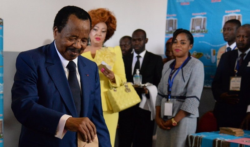 Paul Biya election vote