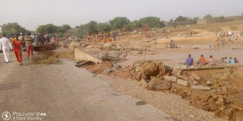 Région de Maradi : des pluies diluviennes font deux morts, un blessé et d'importants dégâts matériels à Dan Issa