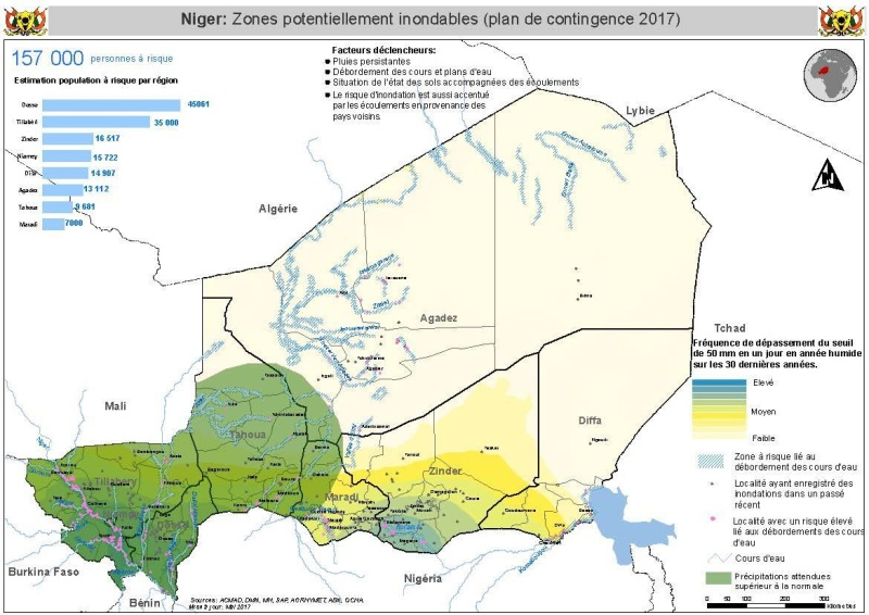Zone potentiellement inondables 2017