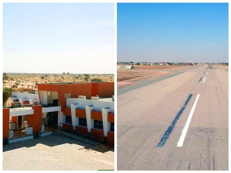 """L'aéroport de Diffa baptisé du nom de l'ancien Président """"Mamadou TANDJA"""""""